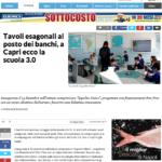 16 Dicembre 2016 - LaRepubblica.it - Tavoli esagonali al posto dei banchi, a Capri ecco la scuola 3.0