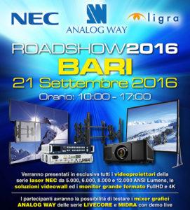 Roadshow Ligra-NEC-Analog Way | 21 settembre Bari