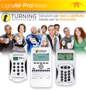 Ligra presenta i risponditori Turning Technologies: soluzioni per test e verifiche