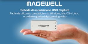 Ligra presenta le nuove schede di acquisizione USB Capture di Magewell