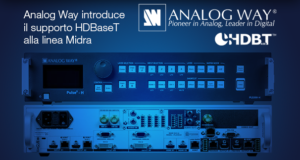Analog Way introduce il supporto HDBaseT alla linea Midra