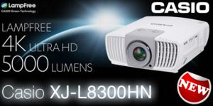 Ligra è lieta di presentare il nuovo videoproiettore Casio XJ-L8300HN