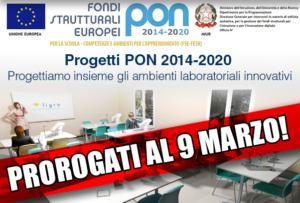 PON Laboratori: proroga scadenza presentazione progetti