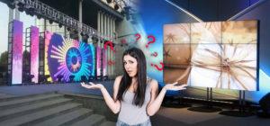 Video wall o led screen? Caratteristiche e differenze per scegliere il meglio per grandi eventi