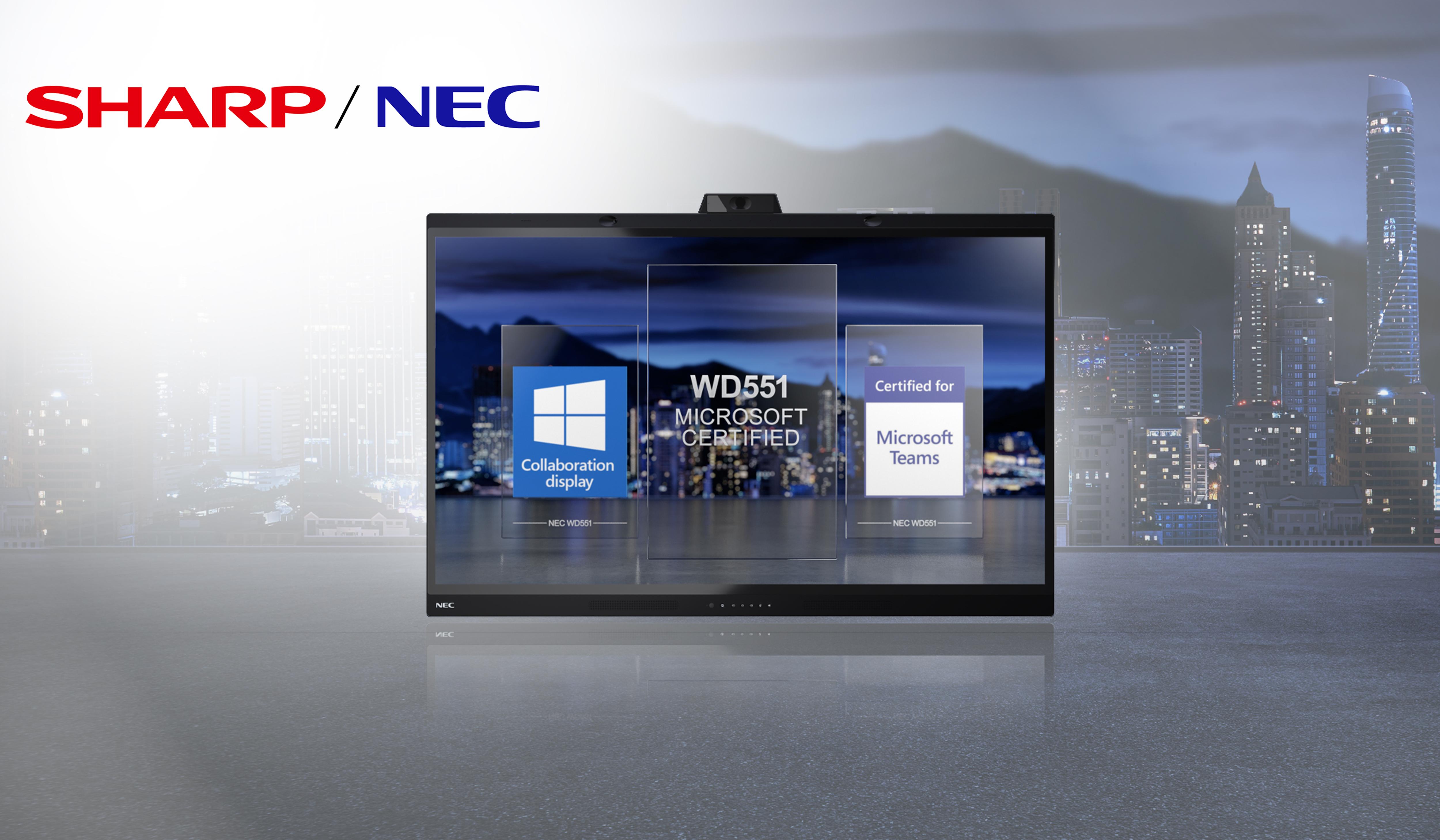 Ligra DS | L'unità demo Sharp/NEC con MultiSync® WD551 Collaboration Display